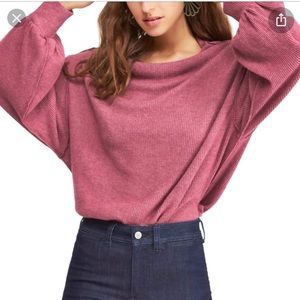 NWT Free People Main Squeeze Hacci Knit top